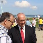 Herr Korochetz mit Landrat Ralf Drescher